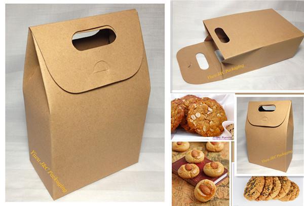Hot Natural Brown Kraft Paper Biscuit Boxcookie Boxpaper