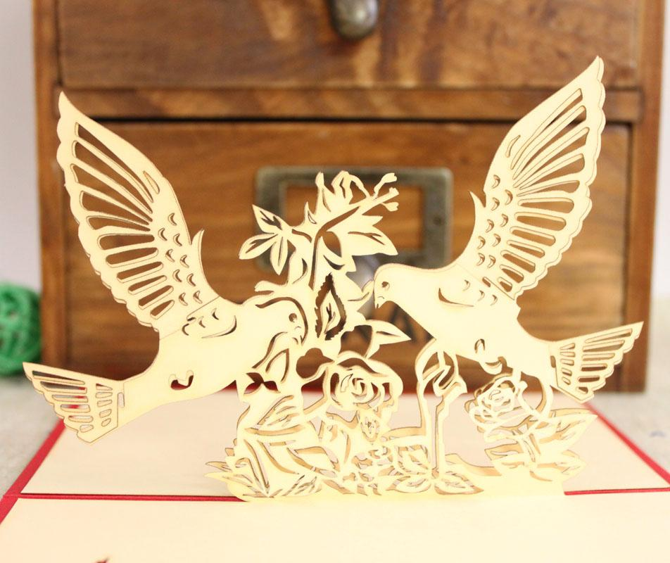 2 Designs Mixed Lovebirds 3d Handmade Birthday Cards Specail - online greeting card designer