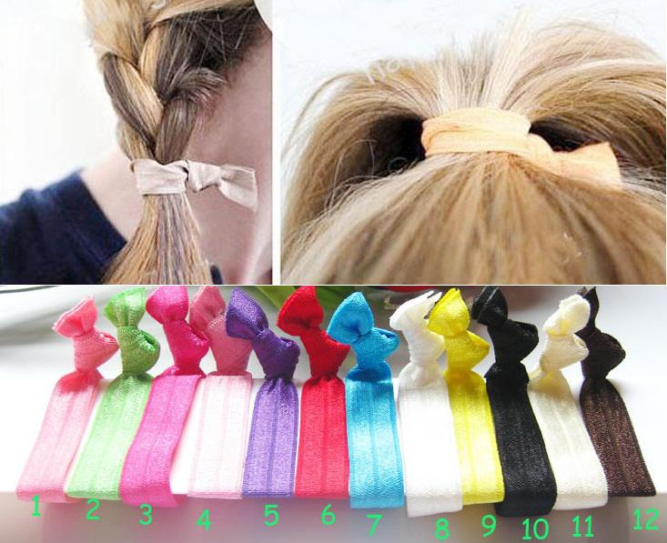 Elastic Hair Ties No Crease Ponytail Holder Twist Jay