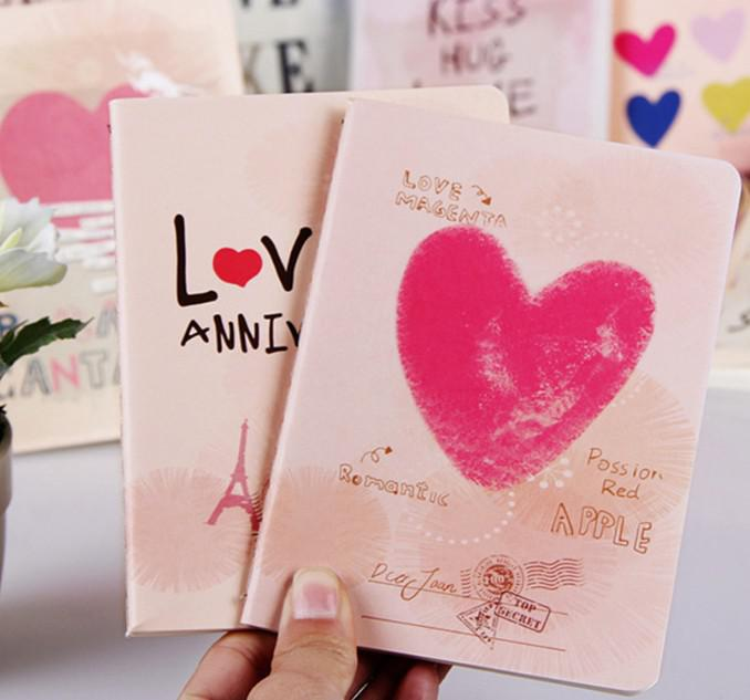 2018 New! Lovely \u0027i Love U\u0027 Design A6 Size Small Notebook, Small - diary design