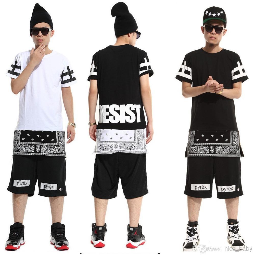 Ktz rhude hood by air bandana shirt harajuku pyrex women men hiphop clothes hip hop dance clothes personality t shirt 2016 fashion crazy design shirts best