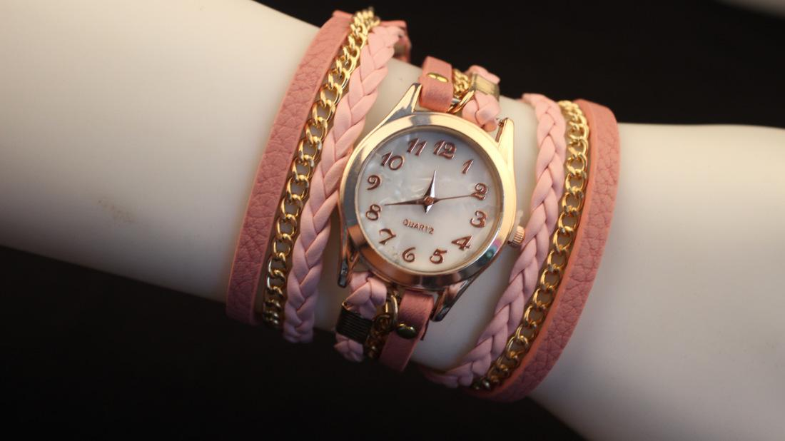 2014 New Arrival Leather Bracelet Watches Hot Fashion