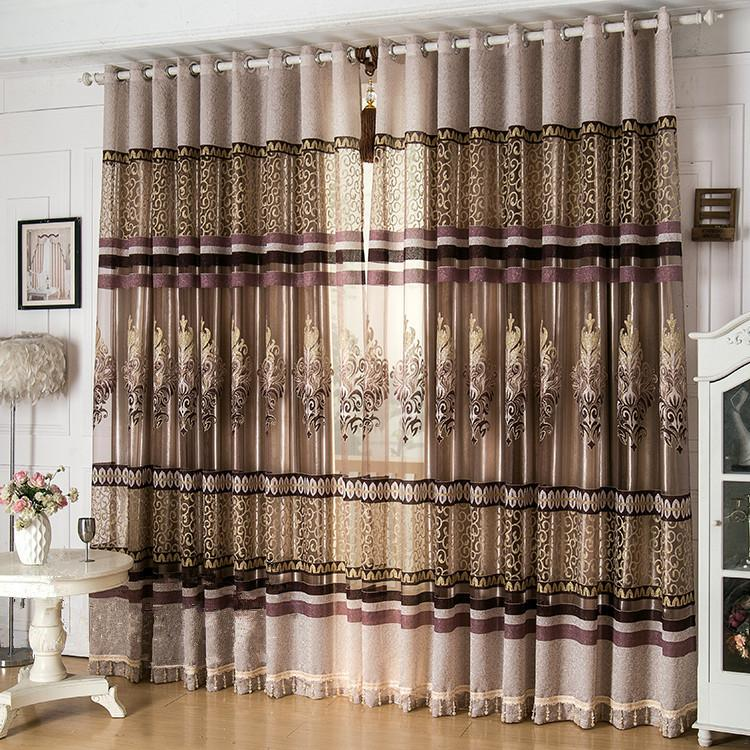 New Arrival Window Screen Curtain Finished Product Luxury Curtain - luxury curtains for living room