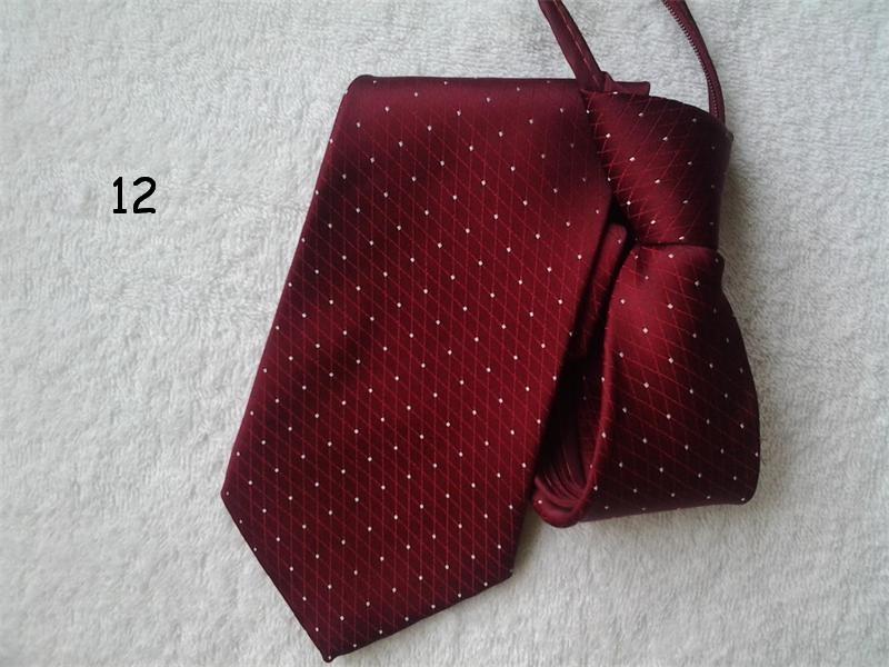 Fashion Zip Tie For Men Necktie Strip Dot 9cm Ascot