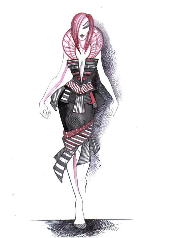 fashion designs drawn