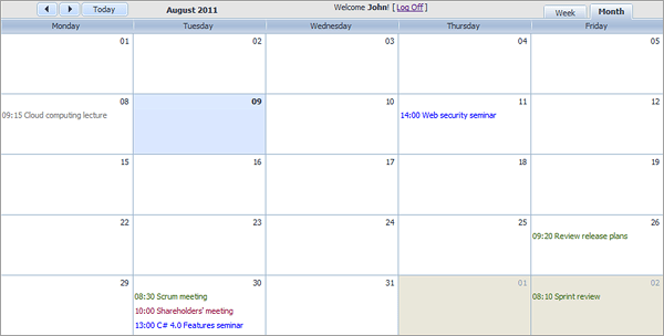 Who Created Our Calendar Unit History Of Calendars Wikipedia Build Room Booking System With Dhtmlxscheduler For Asp