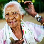 Portrait of a 101 year old Costa Rican woman.