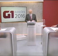 Debate entre Michels e Vaguinho foi o último antes da eleição, no próximo domingo. Foto: Reprodução G1