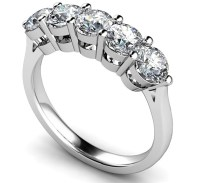 5 Stone Round Diamond Half Eternity Ring | DHMT05112 ...