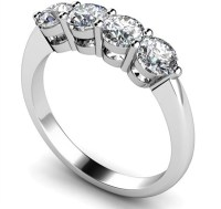 Four Stone Round Diamond Half Eternity Ring