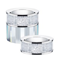 Set of 2 Swarovski Crystal Filled Tea Light Candle Holders