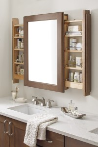 Vanity Mirror Cabinet with Side Pullouts - Diamond