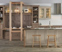 Kitchen with Cherry Cabinets - Diamond Cabinetry
