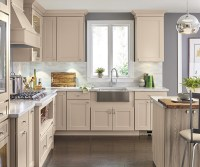 Transitional Kitchen in Beige - Diamond Cabinetry