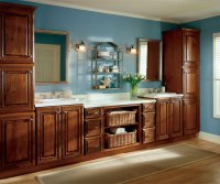 Office Cabinets in Dark Cherry Finish - Diamond Cabinetry