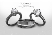 Couple's Bands and Loving blacLoving black gold rings ...