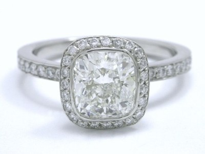 Cushion Cut Diamond Ring 125 Carat With 106 Ratio And 0