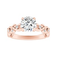 DAISY Diamond Engagement Ring In 14K Rose Gold ...