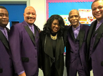 Diane Shaw UK Soul Singer, with The Stylistics