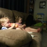 Watching a movie together