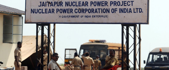 Police officers guard the proposed site of the Nuclear Power Project near Jaitapur, some 400 kilometres (250 miles) south of Mumbai on April 20, 2011.  Anti-nuclear protester Tavrez Sejkar was shot dead by police during a demonstration on April 18. Opposition to a proposed nuclear power station at Jaitapur has hardened since the Japanese nuclear crisis, with concerns about the impact on the livelihoods of farmers and fishermen, as well as pollution and the location of the plant, which environmentalists say is in an earthquake-prone zone.  AFP PHOTO/Punit PARANJPE (Photo credit should read PUNIT PARANJPE/AFP/Getty Images)