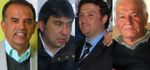 Los candidatos Roberto Córdova, Jorge Vargas González, Marcelo Cabrera Martínez y Mario Moraga Cáceres (cuya declaración no está disponible).