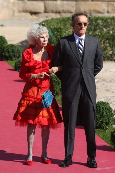 duchess at wedding of rafael medina and laura vecino