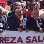 En España los integrantes de los Sindicatos marcharon