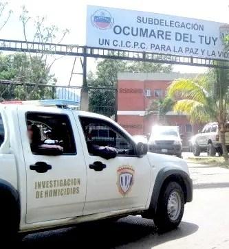 Eje contra Homicidios del Cicpc-Tuy conoció del crimen del conductor