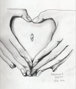 heart-belly-button-pencil-sketch