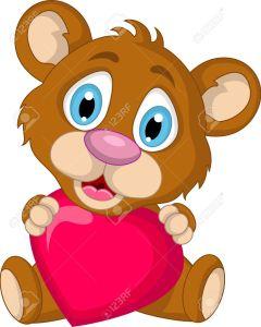 19791440-lindo-marr-n-oso-de-dibujos-animados-con-el-amor-del-coraz-n-Foto-de-archivo