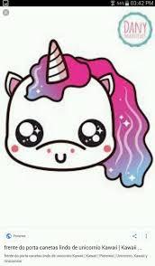 Dibujos kawaii de unicornios