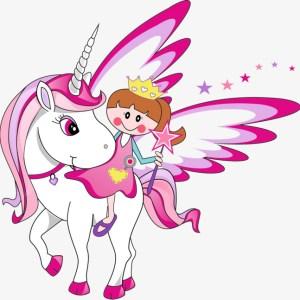 Dibujos kawaii de unicornios en blanco y negro