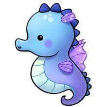 Dibujos kawai de animales acuáticos