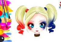 Dibujos-Kawaii-Fáciles-Como-Dibujar-Kawaii-Harley-Quinn-Kawaii