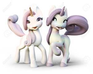 89460528-cute-unicornios-de-fantasía-de-dibujos-animados-aislado-en-un-fondo-blanco-representación-3d