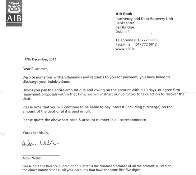 Banks Send Out Threatening Christmas Letters