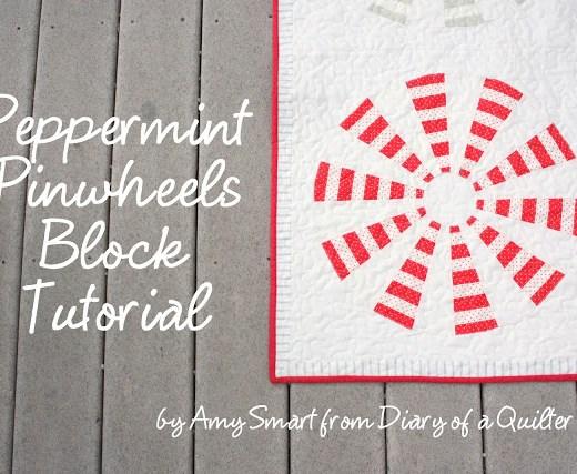 Peppermint Pinwheel block