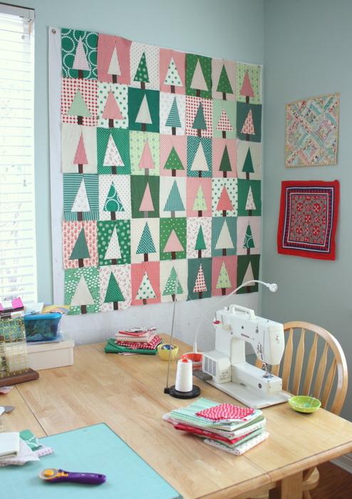 Amy Smart Christmas sewing room