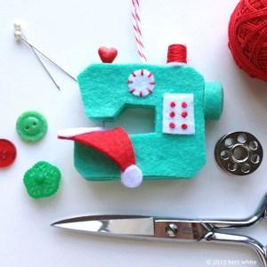 Betz White sewing machine christmas ornament