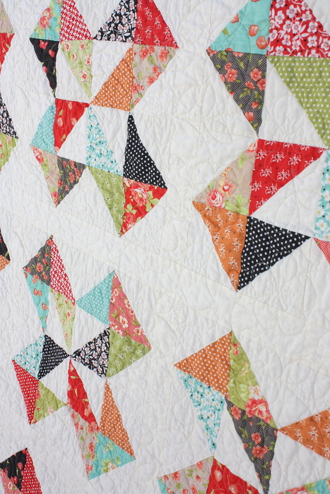 Fig Tree half-square triangles quilt