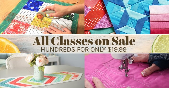 Craftsy quilt class sale