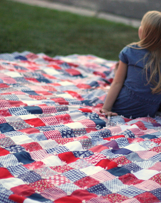 Fourth of July Patchwork Quilt