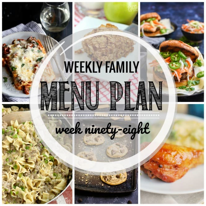 Weekly Family Meal Plan #98 - Diary of A Recipe Collector - how to plan weekly meals for two