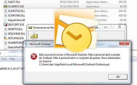 Recuperando erros outlook pst