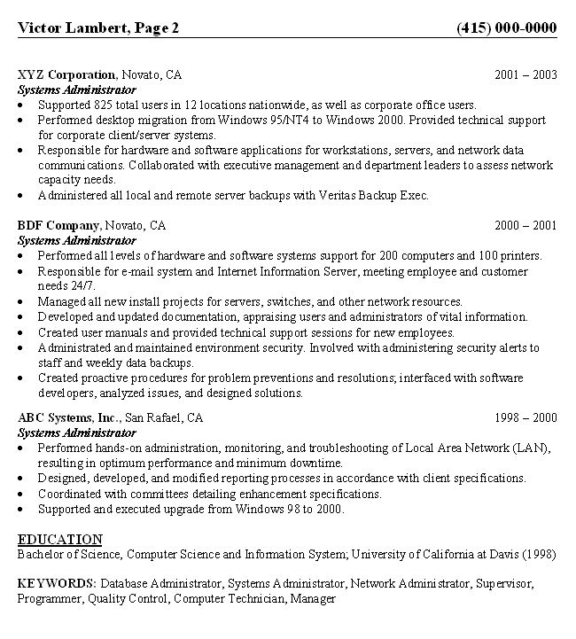 Using the MLA Style Handbook - 6th Edition - Paine College - Computer Systems Administrator Sample Resume