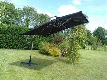 Black Cantilever Parasol