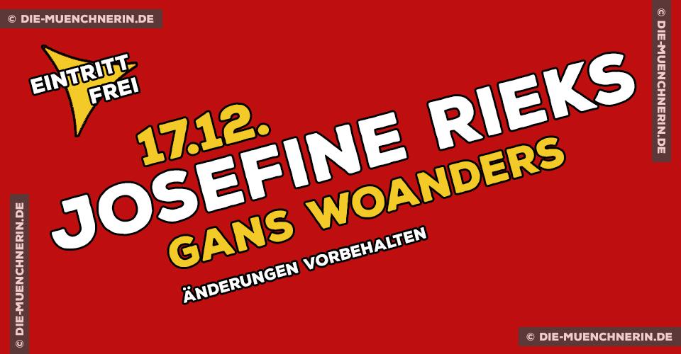 Lesung Josefine Rieks Gans Woanders