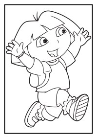 Dora The Explorer Coloring Pages Coloring Pages