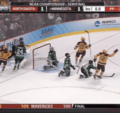 Justin Holl scores with .6 seconds left in Frozen Four Semis